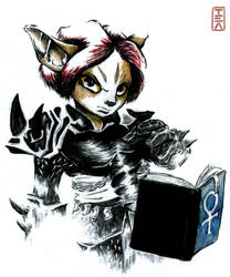 Mercenary Priestess [GW2] by SoakedTeaLeaf