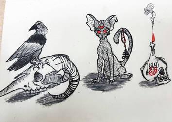Ink Drawing by foxfoxfox3