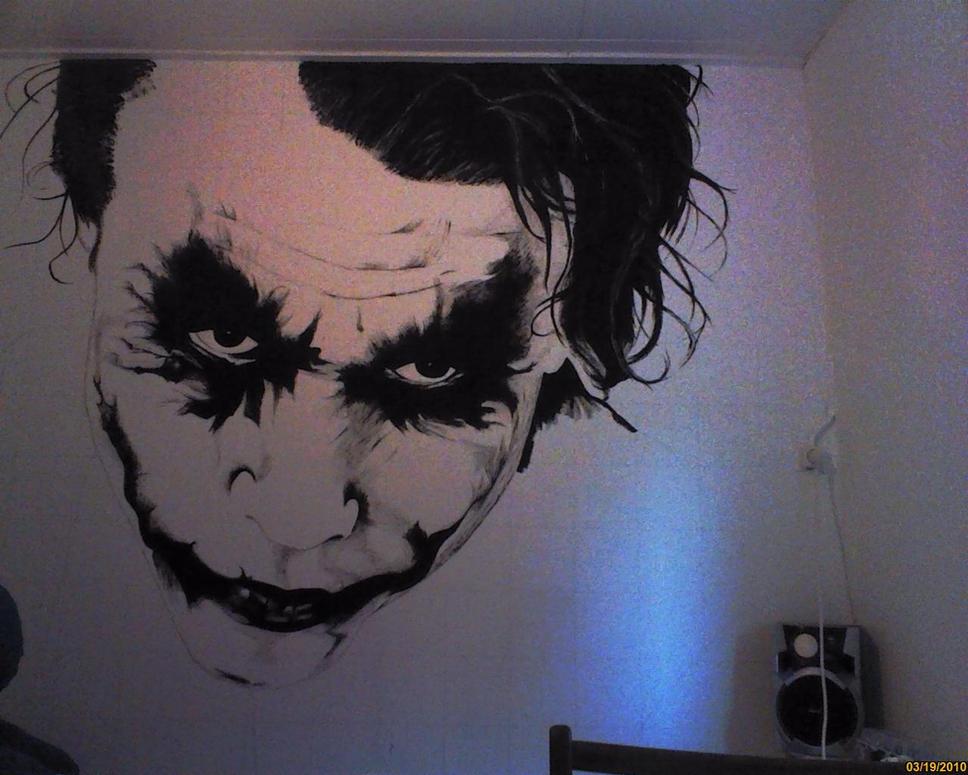 Joker Wallpainting Wip Ii By Ruubski On Deviantart
