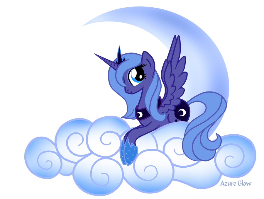 Princess Luna on Cloud number9 by mlpAzureGlow