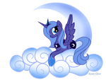 Princess Luna on Cloud number9