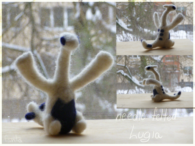 Needle felted Lugia by TlKl