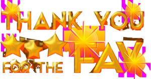 Thanks for the FAV golden 1