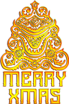 Alien Merry Christmas golden by EXOstock