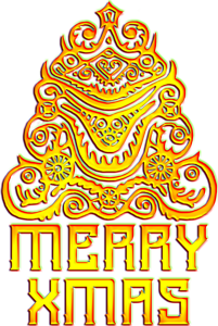 Alien Merry Christmas golden by EXOstock