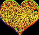 Alien heart golden 300px