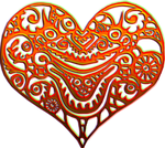 Alien heart red 200px