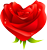 Heart rose 50px