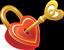 Heart lock small 50px