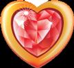 Heart ruby in gold 100px by EXOstock