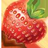 Heart strawberry 100px