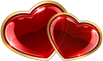 Two cute hearts 100px