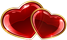 Two cute hearts 40px