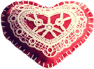 Lace heart 100px