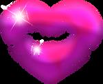 Heart kiss purple klipart 1000px
