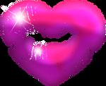 Heart kiss purple 150px by EXOstock