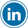 Linkedin icon flat round 100px by EXOstock