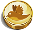 Gold chocolate twitter 100px by EXOstock