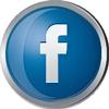 Facebook icon volumetric round 100px by EXOstock