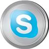 Skype icon volumetric round 100px by EXOstock