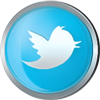 Twitter icon volumetric round 100px by EXOstock