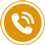 Phone call icon flat round 45px by EXOstock