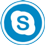 Skype icon flat round 45px by EXOstock