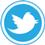 Twitter icon flat round 45px by EXOstock