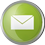 Email icon volumetric round 45px by EXOstock