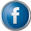 Facebook icon volumetric round 45px by EXOstock
