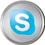 Skype icon volumetric round 45px by EXOstock