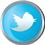 Twitter icon volumetric round 45px by EXOstock