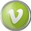 Vimeo icon volumetric round-45px by EXOstock