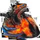 Wraith hand on burning heart 80px