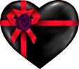 Black heart gift 100px by EXOstock