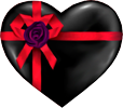 Black heart gift 100px by EXOstock