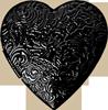 Black heart ornament 100px by EXOstock