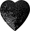 Black heart ornament 100px by EXOstock