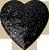 Black heart ornament 50px by EXOstock