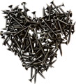 Nails heart 120px by EXOstock
