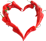 Chili pepper heart 150px by EXOstock
