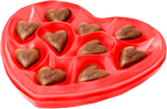 Heart with milk chocolate 100px