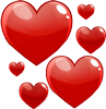 Flying hearts 100px