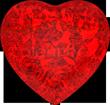 Ruby heart 110px
