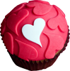 Muffin with heart 100px by EXOstock