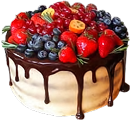 Cake with berries 120px