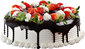 Strawberry cake with chocolate2  Clipart 7000x4000