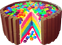 Rainbow cake M and Ms 60px