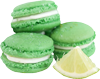 Macarons with lime 100px
