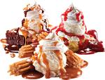 Ice cream caramel and strawberry 150px by EXOstock